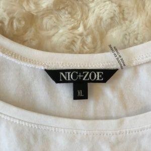 NIC+ZOE Tops - NIC+ZOE Perfect Tank White XL EUC